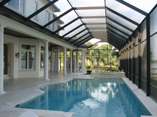 Patio pool screen enclosure for Swimming pool enclosures cost