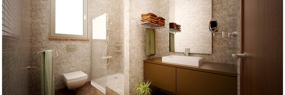 Remodeling bathroom shower cabinets for Brown and beige bathroom ideas