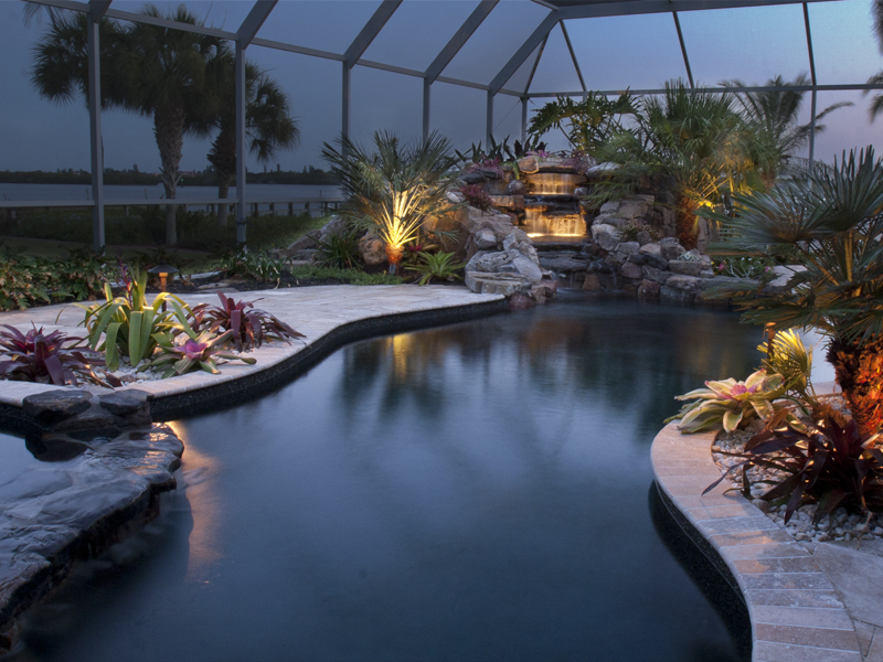 Pool construction in ground pool for Pool design ideas florida